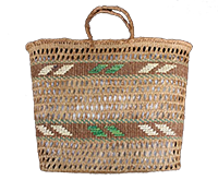 Cedar bark basket/bag.