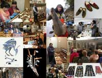 Collage of 15 photos of native artists