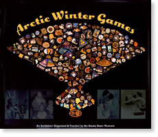Arctic Winter Games. Collage of Alaska Native icons.