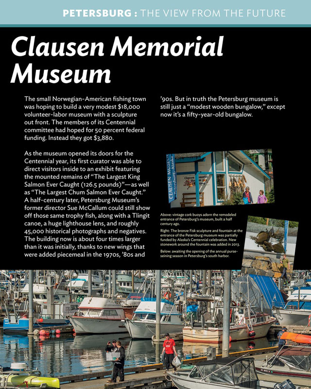 Opens PDF to read Clausen Museum panel.